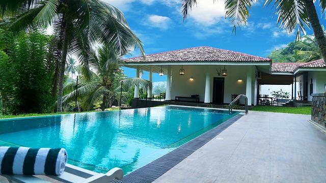 bazén u bungalovu
