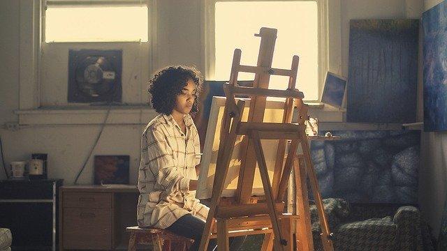 Malíř, plátno, obraz
