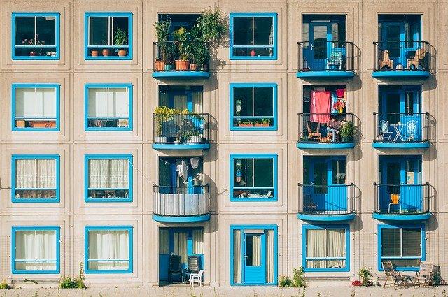 městské byty s balkóny