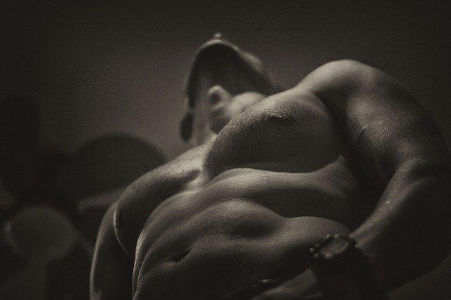 Muž, břišní svaly, svaly